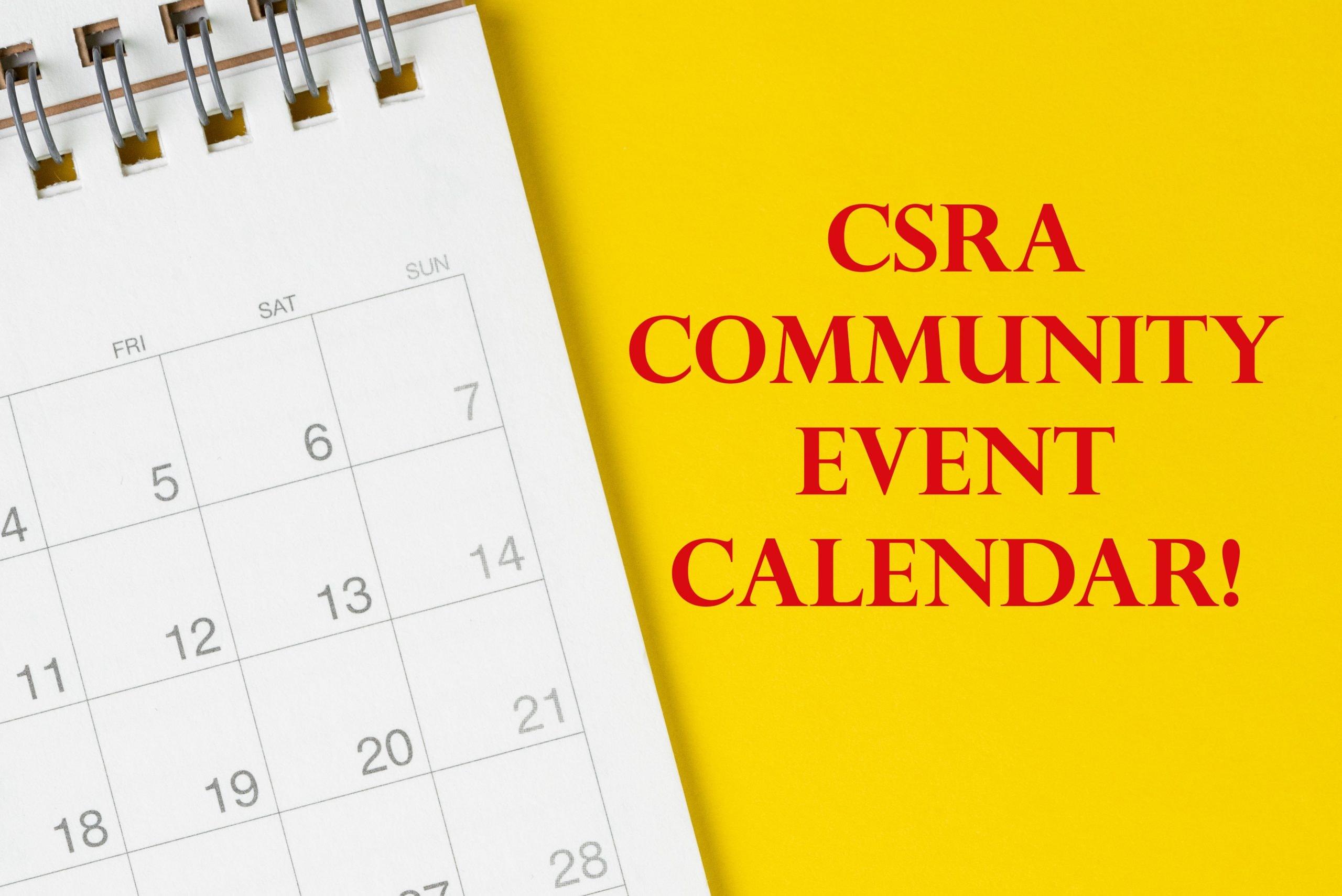 CSRA Community Calendar